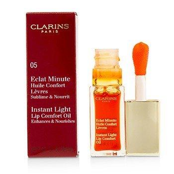 Купить Eclat Minute Instant Light Комфортное Масло для Губ - # 05 Tangerine 7ml/0.1oz, Clarins