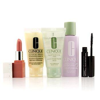 Clinique3 Step Skin Care System  Liquid Facial Soap Mild Clarifying Lotion 2 DDML Lash Power Mascara Clinique Pop Lip 5pcs