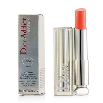 Christian Dior Dior Addict Hydra Gel Core Mirror Shine Lipstick - #334 Happy (Box Slightly Damaged) 3.5g/0.12oz
