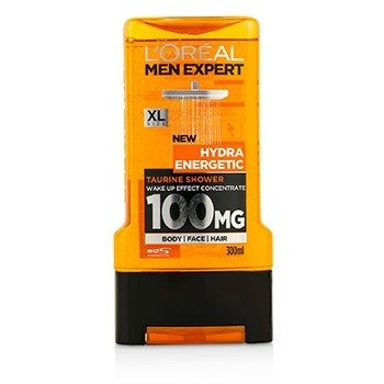 L'Oreal Men Expert Shower Gel - Hydra Energetic (For Body  Face & Hair) 300ml/10.1oz