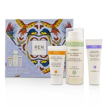 Купить All Is Calm All Is Bright Set: Mask 15ml + Firming Serum 10ml + Day Cream 50ml 3pcs, Ren