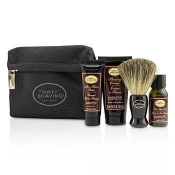 The Art Of Shaving Starter Kit - Sandalwood: Pre Shave Oil + Shaving Cream + After Shave Balm + Brush + Bag 4pcs + 1 Bag