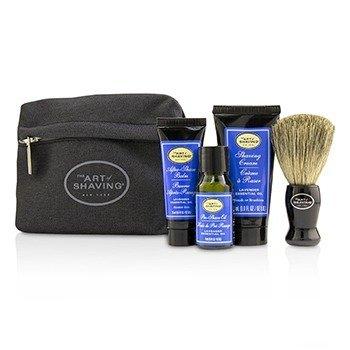 Купить Базовый Набор - Lavender: Масло до Бритья + Крем для Бритья + Бальзам после Бритья + Кисть + Сумка + 1 Bag, The Art Of Shaving