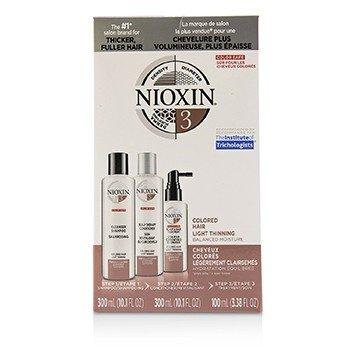 Купить 3D Care System Набор 3 - для Окрашенных Волос, Легкая Степень Выпадения, Сбалансированное Увлажнение 3pcs, Nioxin