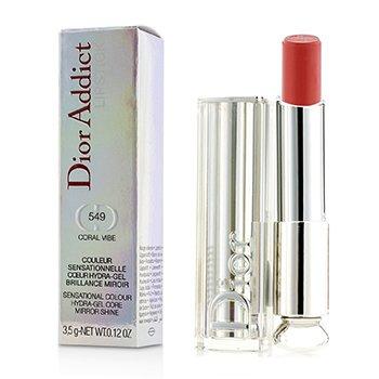 Dior Addict Hydra Gel Core Mirror Shine Lipstick - #549 Coral Vibe Christian Dior Dior Addict Hydra Gel Core Mirror Shine Lipstick - #549 Coral Vibe 3.5g/0.12oz