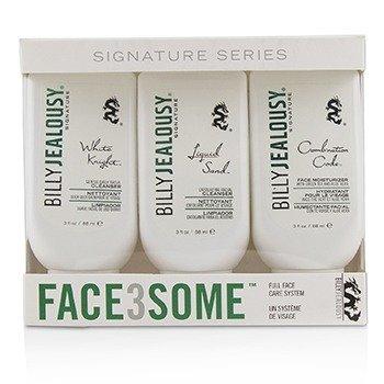 比力杰勒斯 Billy Jealousy Face3Some Kit: Face Moisturizer 88ml + Exfoliating Facial Cleanser 88ml + Gentle Daily Facial Cleanser 88ml 3pcs