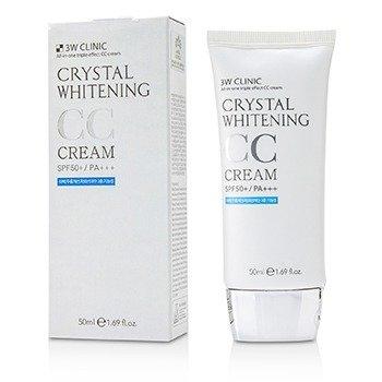 Crystal Whitening CC Крем SPF 50+/PA+++ - #01 Glitter Beige 50ml/1.69oz, 3W Clinic  - Купить