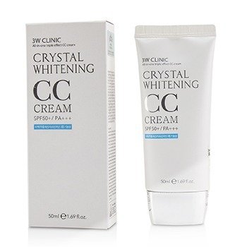Купить Crystal Whitening CC Крем SPF 50+/PA+++ - #02 Natural Beige 50ml/1.69oz, 3W Clinic