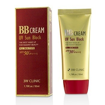 Купить UV Sun Block BB Крем SPF50+ PA+++ 50ml/1.76oz, 3W Clinic
