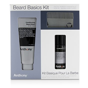 Anthony Beard Basics Kit: 1x Conditioning Beard Wash 177ml& 1x Pre-Shave + Conditioning Beard Oil 59