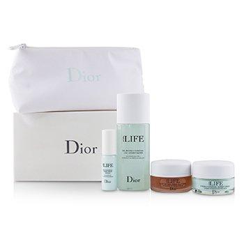 Christian Dior Hydra Life Travel Set: Balancing Hydration Sorbet Water+Deep Hydration Water Essence+Fresh Hydration Creme+Glow Better Mask 4pcs