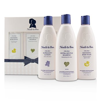 Noodle & Boo Starter Gift Set: Extra Gentle Shampoo 237ml/8oz + Soothing Body Wash 237ml/8oz + Super Soft Lotion 237ml/8oz 3pc