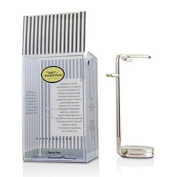 The Art Of Shaving  Compact Shaving Stand - Nickel (For Brush & Razor) (Box Slightly Damaged) 1pc 22421291721