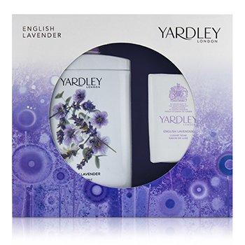 Yardley London English Lavender Corffet: Perfumed Talc 200g/7oz + Luxury Soap 100g/3.5oz 2pcs