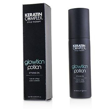 케라틴 컴플렉스 Style Therapy Glowtion Potion Styling Oil (For Healthy  Soft  Shiny Hair) 100ml/3.4oz