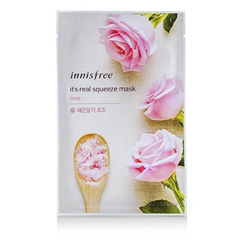 Innisfree  It's Real Squeeze Mask - Rose (Exp. Date 11/2018) 10pcs