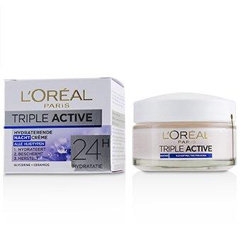 Купить Triple Active Увлажняющий Ночной Крем 24Ч Увлажнения - для Всех Типов Кожи 50ml/1.7oz, L'Oreal