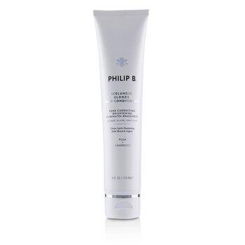 Philip B Icelandic Blonde Deep Conditioner (Tone Correcting Brightening Eliminates Brassiness - Blonde  Gray  Silver Hair) 178ml/6oz