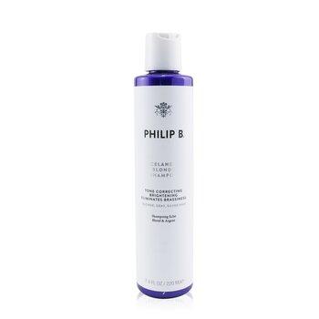 Philip B Icelandic Blonde Shampoo (Tone Correcting Brightening Eliminates Brassiness - Blonde  Gray  Silver Hair) 220ml/7.4oz