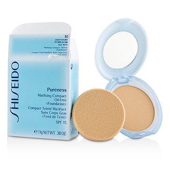 资生堂 Shiseido Pureness Matifying Compact Oil Free Foundation SPF15 (Case + Refill) - # 10 Light Ivory (Box Slightly Damaged) 11g/0.38oz