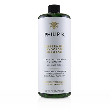 菲利普 B Philip B Peppermint Avocado Shampoo (Scalp Invigorator Volumizing - All Hair Types) 947ml/32oz