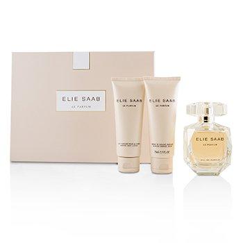 Elie SaabLe Parfum Coffret Eau De Parfum Spray 90ml 3oz Scented Body Lotion 75ml 2.5oz Scented Shower Cream 75ml 2.5oz 3pcs