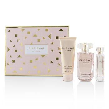 Купить Le Parfum Rose Couture Набор: Туалетная Вода Спрей 90мл/3унц + Floral Лосьон для Тела 75мл/2.5унц + Туалетная Вода Спрей 10мл/0.33унц 3pcs, Elie Saab