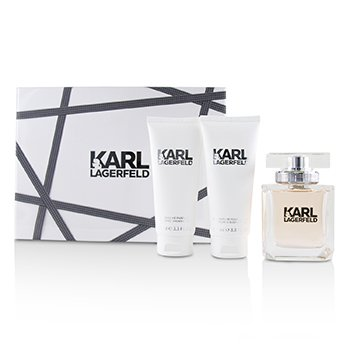 Lagerfeld Lagerfeld Coffret: Eau De Parfum Spray 85ml/2.8oz + Perfumed Body Lotion 100ml/3.3oz + Perfumed Shower Gel 100ml/3.3oz 3pcs