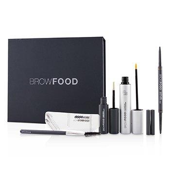 Купить BrowFood Набор для Ухода за Бровями - # Dark Brunette (Medium/Dark) 5pcs, LashFood