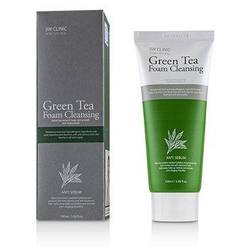 3W Clinic Green Tea Foam Cleansing 100ml/3.38oz