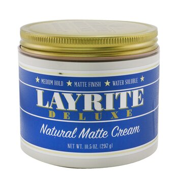 Layrite Natural Matte Cream (Medium Hold  Matte Finish  Water Soluble) 297g/10.5oz