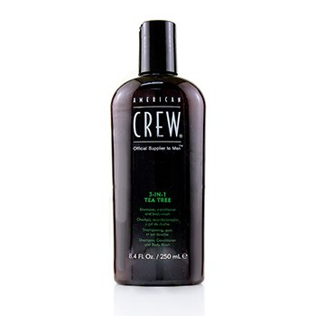 American Crew Men 3-IN-1 Tea Tree Shampoo  Conditioner and Body Wash 250ml/8.4oz