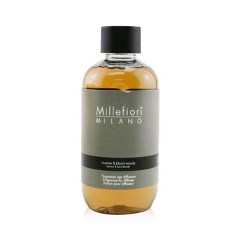 Millefiori Natural Fragrance Diffuser Refill - Incense & Blond Woods 250ml/8.45oz