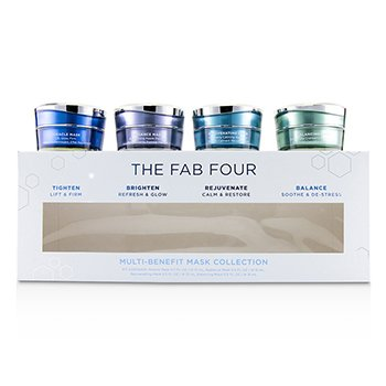 The Fab Four Multi-Benefit Mask Collection: Miracle Mask + Radiance Mask + Rejuvenating Mask + Balancing Mask HydroPeptide The Fab Four Multi-Benefit Mask Colle