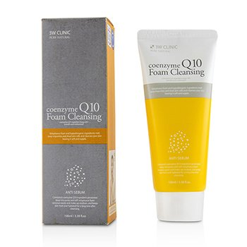 Image of 3W Clinic Coenzyme Q10 Foam Cleansing 100ml/3.38oz