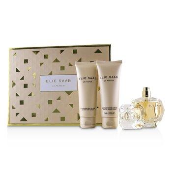 Купить Le Parfum Набор: Парфюмированная Вода Спрей 50мл/1.6унц + Ароматизированный Лосьон для Тела 75мл/2.5унц + Ароматизированный Крем для Душа 75мл/2.5унц -, Elie Saab