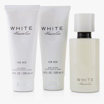 Kenneth Cole White Coffret: Eau De Parfum Spray 100ml/3.4oz + Body Lotion 100ml/3.4oz + Bath & Shower Gel 100ml/3.4oz 3pcs