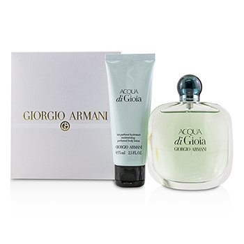 Giorgio Armani Acqua Di Gioia Coffret: Eau De Parfum Spray 100ml/3.4oz + Moisturizing Perfumed Body Lotion 75ml/2.5oz 2pcs