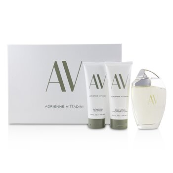 Adrienne Vittadini AV Coffret:Eau De Parfum Spray 90ml/3oz + Body Lotion 100ml/3.4oz + Shower Gel100
