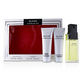 Alfred Sung Sung Coffret: Eau De Toilette Spray 100ml/3.4oz + Essential Body Lotion 75ml/2.5oz + Refreshing Shower Gel 75ml/2.5oz 3pcs