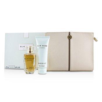 Elie Saab Le Parfum L'Eau Couture Coffret: Eau De Toilette Spray 50ml/1.6oz + Shimmering Body Lotion 75ml/2.5oz + Pouch 2pcs+pouch