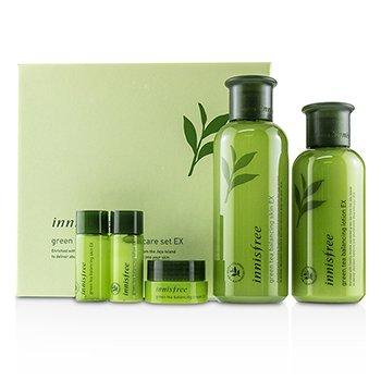Innisfree Green Tea Balancing Skin Care Set EX: Balancing Skin 200ml+15ml  Balancing Lotion 160ml+15ml  Balancing Cream 10ml 5pcs
