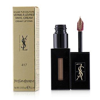 SAINT LAURENT | Yves Saint Laurent Rouge Pur Couture Vernis A Levres Vinyl Cream Creamy Stain - # 417 Beige Bounce 5.5ml/0.18oz | Goxip
