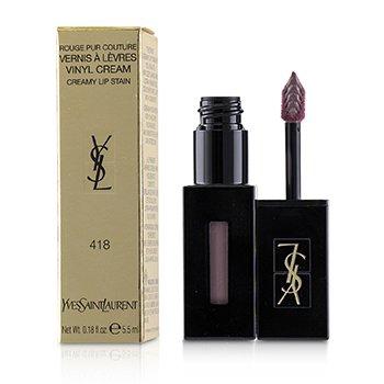 SAINT LAURENT | Yves Saint Laurent Rouge Pur Couture Vernis A Levres Vinyl Cream Creamy Stain - # 418 Purple Sound 5.5ml/0.18oz | Goxip