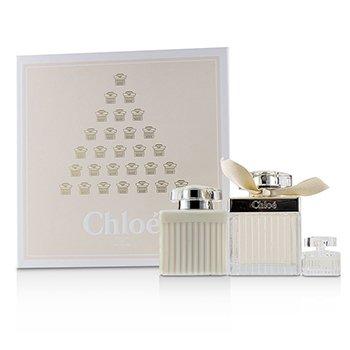 CHLOÉ | ChloeFleur De Parfum Coffret: Eau De Parfum Spray 75ml/2.5oz + Perfumed Body Lotion 100ml/3.4oz + Eau De Parfum 5ml/0.17oz 3pcs | Goxip