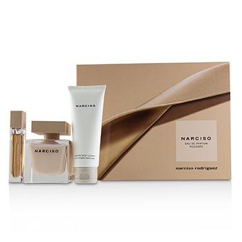 NARCISO RODRIGUEZ | Narciso Rodriguez Narciso Poudree Coffret: Eau De Parfum Spray 90ml/3oz + Scented Body Lotion 75ml/2.5oz +Eau De Parfum Purse Spray 10ml/0.33oz 3pcs | Goxip
