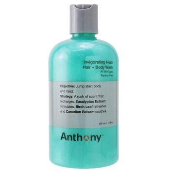 Anthony Invigorating Rush Hair & Body Wash (All Skin Types) 355ml/12oz