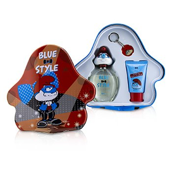 The Smurfs Papa Coffret: Eau De Toilette Spray 100ml/3.4oz + Shower Gel 75ml/2.5oz + Key Chain (Box Slightly Damaged) 3pcs