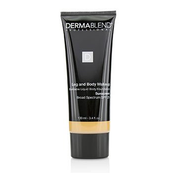 DERMABLEND | Dermablend Leg and Body Make Up Buildable Liquid Body Foundation Sunscreen Broad Spectrum SPF 25 - #Medium Natural 40N (Unboxed) 100ml/3.4oz | Goxip