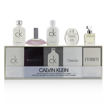 Miniature Coffret: CK One EDT 10ml + Euphoria EDP 4ml + CK All EDT 10ml + Obsessed EDP 5ml + Eternity EDP 5ml Calvin Klein Miniature Coffret: CK One EDT 10ml +